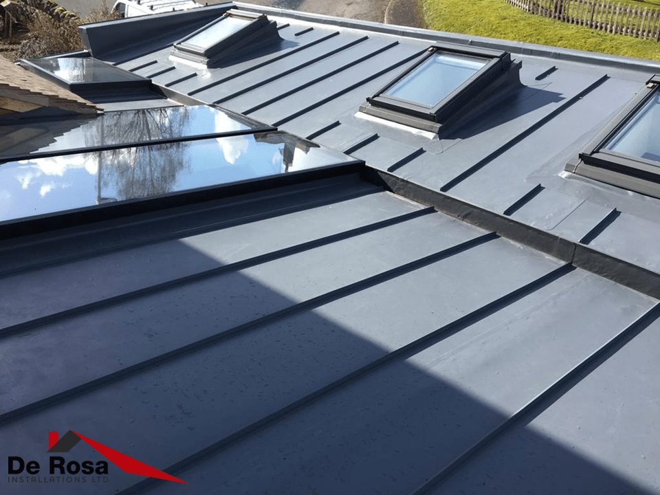 Sarnafil single ply with decor profile and roof-lights